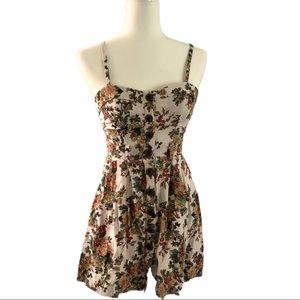Poetry Button-Down Bustier Sundress